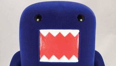 domo kun vinyl figure blue image