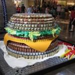 hamburger canstruction artwork