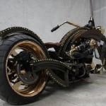 harley davidson steampunk motorcycle mod design 2