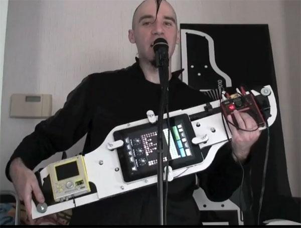 steampunk guitar mod design 1