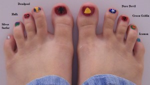 marvel superheroes toes design image