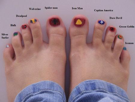 marvel superheroes toes design image