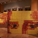 mona lisa canstruction artwork
