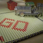 monopoly theme canstruction artwork