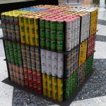 rubik's cube canstruction artwork