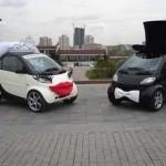 smart car groom and bride design