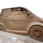 smart car sand sculpture design