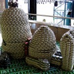 snoopy canstruction artwork