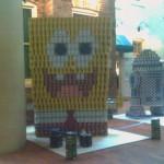 sponsgebob squarepants canstruction artwork