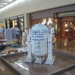 star wars r2d2 canstruction artwork