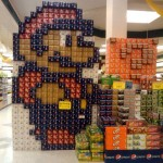 super mario bros canstruction artwork 1