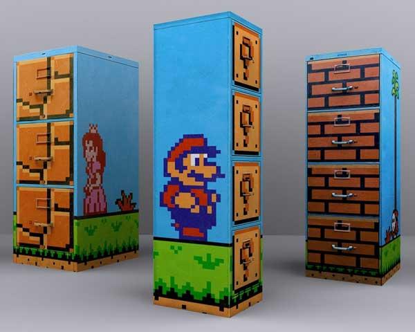 Super Mario Filing Cabinet