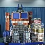transformers optimus prime canstruction artwork
