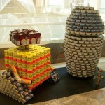wall-e canstruction artwork 2