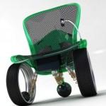 Futuristic Hubless Wheelchair