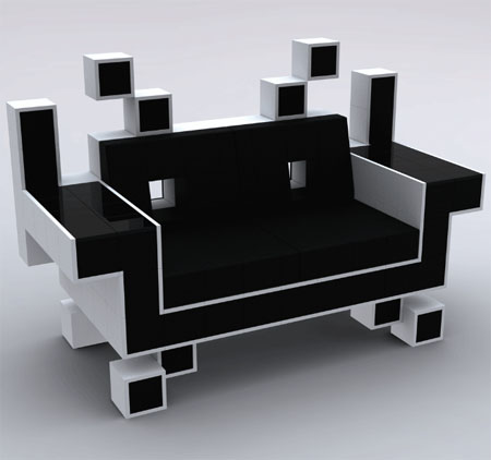 cool, fun, and so classic! designed by igor chak, the space invader couch  was meant to be u0027artu0027, and when art meets popular geek taste, we at walyou  smile! 6TZALXPC