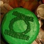 green lantern cake top