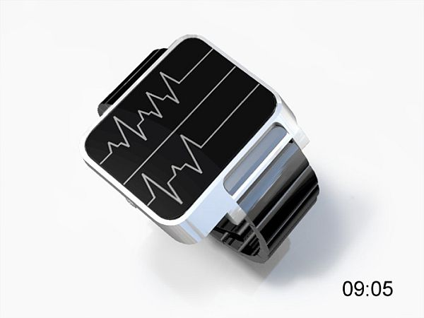 concept design for the pulse ecg watch walyou
