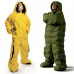 sleeping bag man suit theme
