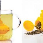 yellow submarine tea infuser design