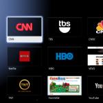 The Google TV home screen