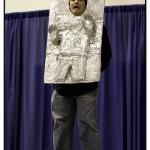 bizarre star wars costumes han solo frozen in carbonite costume 1