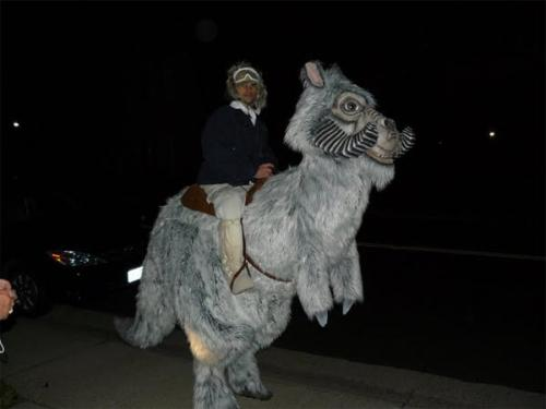 bizarre star wars costumes tauntaun costume 1