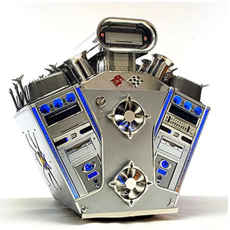 computer case mod v8 engine1