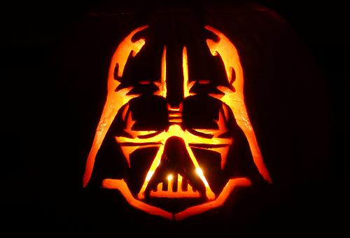 halloween pumpkin carvings artwork dart vader