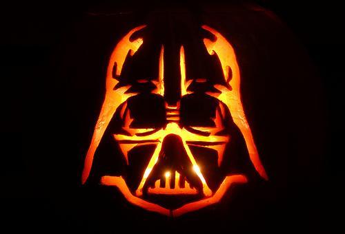 halloween pumpkin carvings artwork dart vader