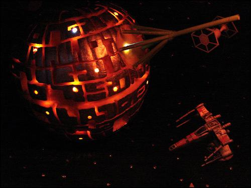 halloween pumpkin carvings artwork death star
