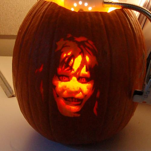 halloween pumpkin carvings artwork exorcist