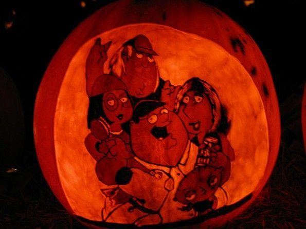 halloween pumpkin carvings artwork family guy