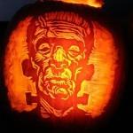 halloween pumpkin carvings artwork frankenstein