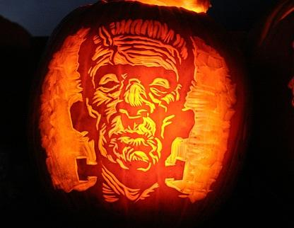 halloween pumpkin carvings artwork frankenstein