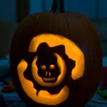 halloween pumpkin carvings artwork gears of war