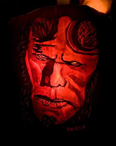halloween pumpkin carvings artwork hellboy