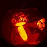 halloween pumpkin carvings artwork monkey