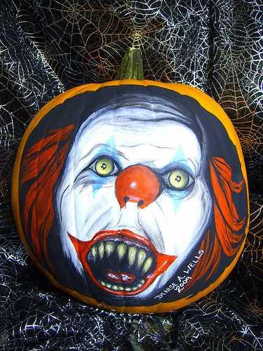 halloween pumpkin carvings artwork pennywise