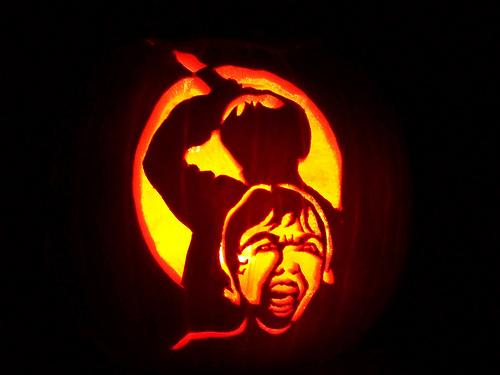halloween pumpkin carvings artwork psycho