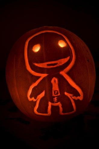 halloween pumpkin carvings artwork sackboy