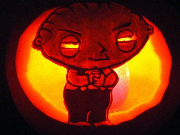 halloween pumpkin carvings artwork stewie griffin