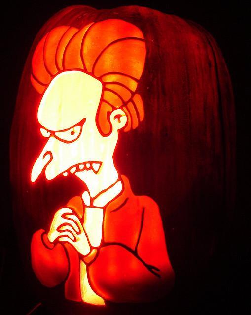 halloween pumpkin carvings montgomery burns vampire