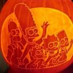 halloween pumpkin carvings simpsons