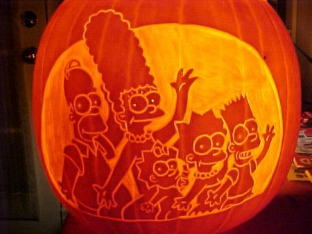 halloween pumpkin carvings simpsons
