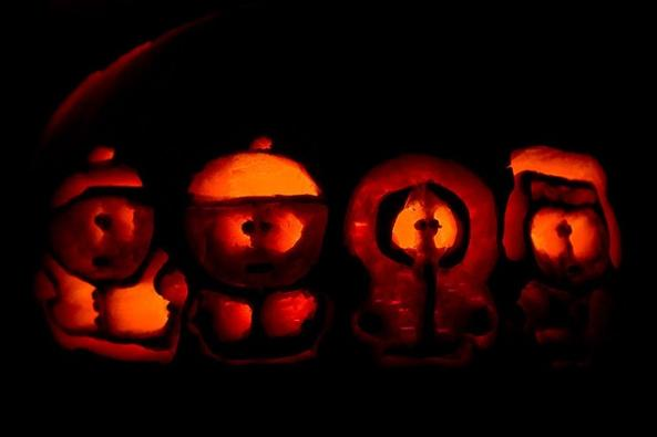 halloween pumpkin carvings south park
