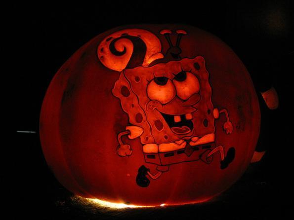halloween pumpkin carvings spongebob squarepants 1