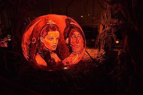 halloween pumpkin carvings wizard of oz