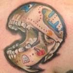 pacman skull tattoo anatomy
