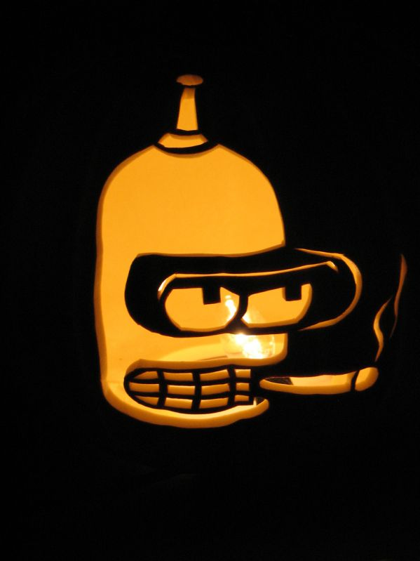 pumpkin carvings futurama bender 1